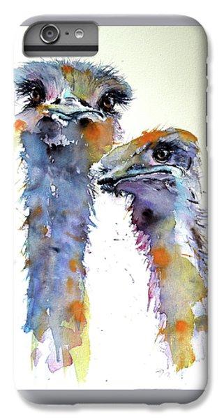 Ostrich iPhone 6s Plus Case - Ostriches by Kovacs Anna Brigitta