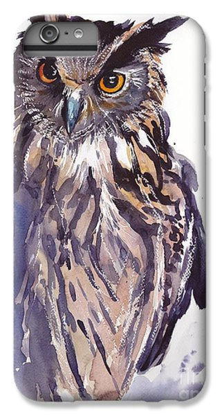 Pigeon iPhone 6s Plus Case - Owl Watercolor by Suzann's Art