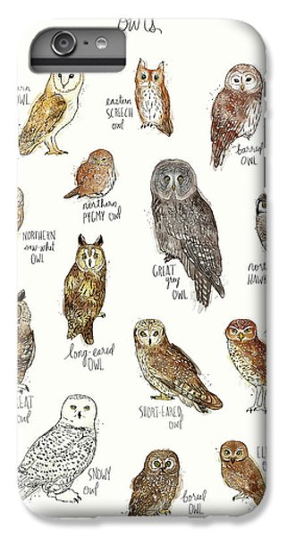 Bar iPhone 6s Plus Case - Owls by Amy Hamilton