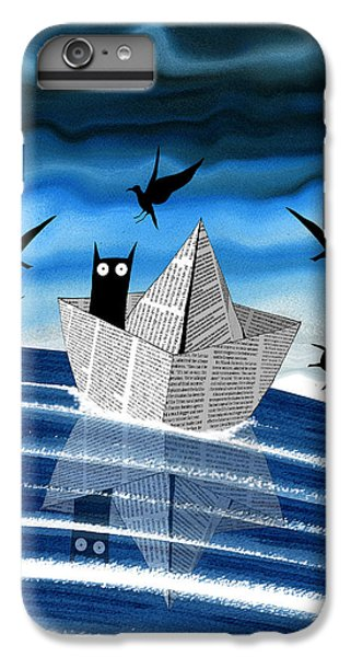 Seagull iPhone 6s Plus Case - Paper Boat  by Andrew Hitchen