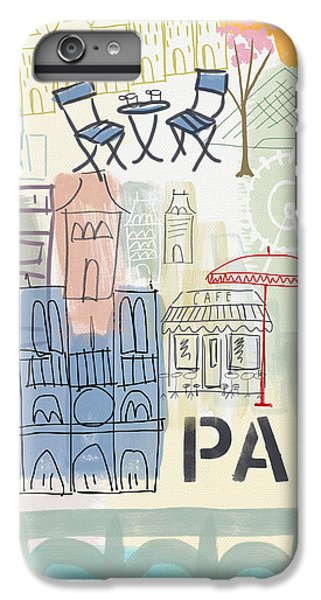 Wood iPhone 6s Plus Case - Paris Cityscape- Art By Linda Woods by Linda Woods