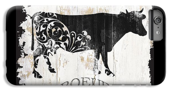 Cow iPhone 6s Plus Case - Paris Farm Sign Cow by Mindy Sommers