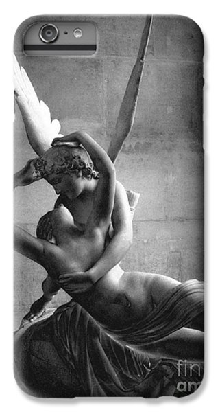 Louvre iPhone 6s Plus Case - Eros And Psyche Romantic Lovers - Paris Eros Psyche Louvre Sculpture Black And White Photography by Kathy Fornal