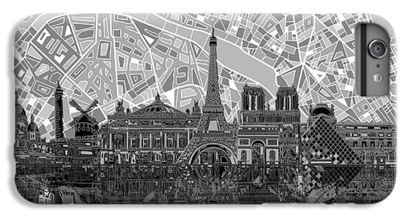 Paris Skyline Black And White IPhone 6s Plus Case