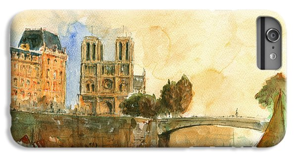 Paris Watercolor IPhone 6s Plus Case by Juan  Bosco