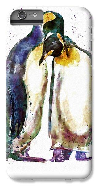 Penguin iPhone 6s Plus Case - Penguin Couple by Marian Voicu