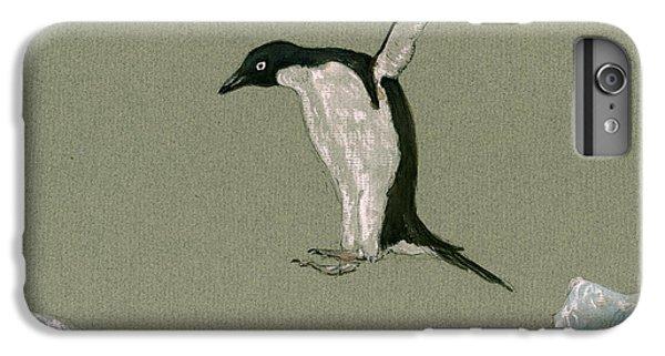 Penguin iPhone 6s Plus Case - Penguin Jumping by Juan  Bosco