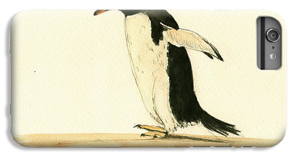 Penguin iPhone 6s Plus Case - Penguin Walking by Juan  Bosco