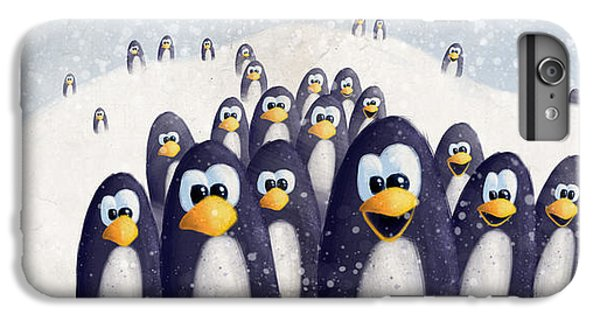 Penguin Winter IPhone 6s Plus Case by David Breeding