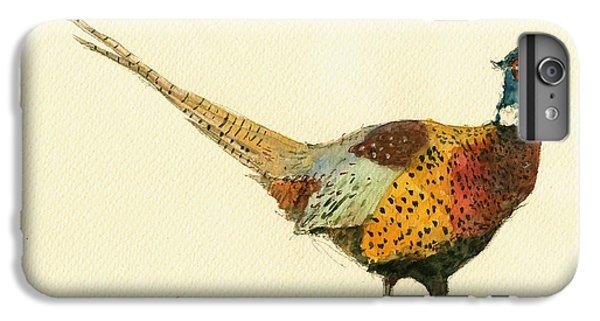 Pheasant iPhone 6s Plus Case - Pheasant Bird Art by Juan  Bosco