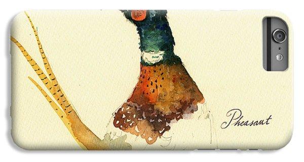 Pheasant iPhone 6s Plus Case - Pheasant Painting by Juan  Bosco