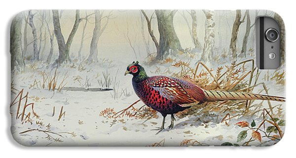 Pheasants In Snow IPhone 6s Plus Case by Carl Donner