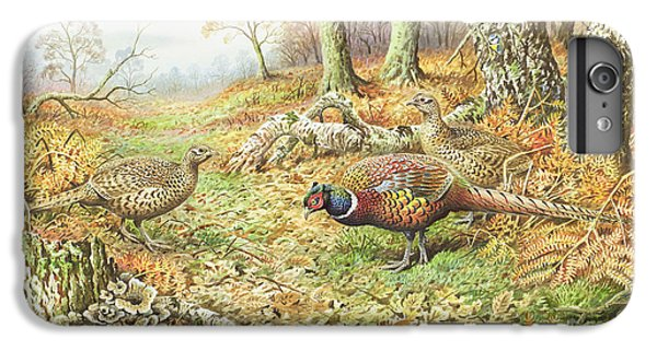 Pheasants With Blue Tits IPhone 6s Plus Case by Carl Donner