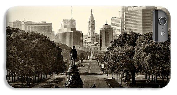 Philadelphia Benjamin Franklin Parkway In Sepia IPhone 6s Plus Case by Bill Cannon