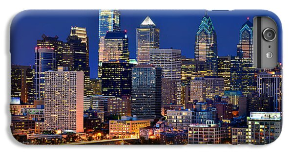 Philadelphia Skyline At Night IPhone 6s Plus Case by Jon Holiday