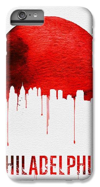 Philadelphia Skyline Redskyline Red IPhone 6s Plus Case by Naxart Studio