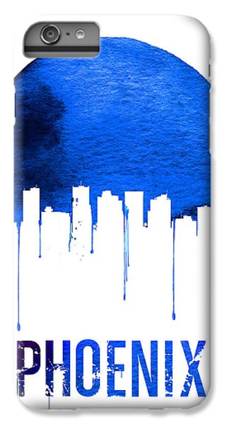Phoenix Skyline Blue IPhone 6s Plus Case by Naxart Studio