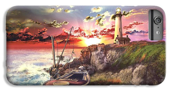 Pigeon iPhone 6s Plus Case - Pigeon Point Lighthouse by Bekim Art