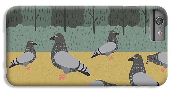 Pigeon iPhone 6s Plus Case - Pigeons Day Out by Nicole Wilson