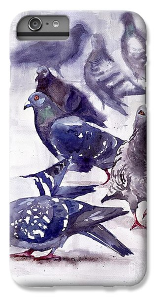 Pigeon iPhone 6s Plus Case - Pigeons Watercolor by Suzann's Art