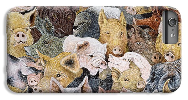 Pigs Galore IPhone 6s Plus Case by Pat Scott