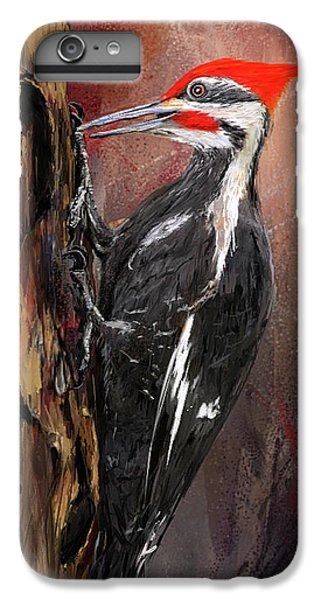 Pileated Woodpecker Art IPhone 6s Plus Case by Lourry Legarde
