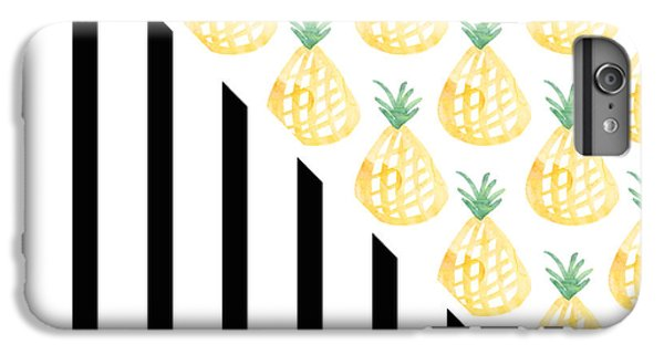 Pineapples And Stripes IPhone 6s Plus Case by Linda Woods