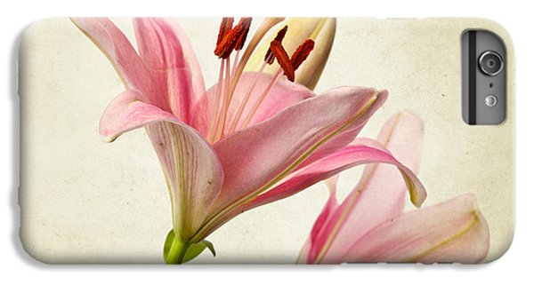 Lily iPhone 6s Plus Case - Pink Lilies by Nailia Schwarz