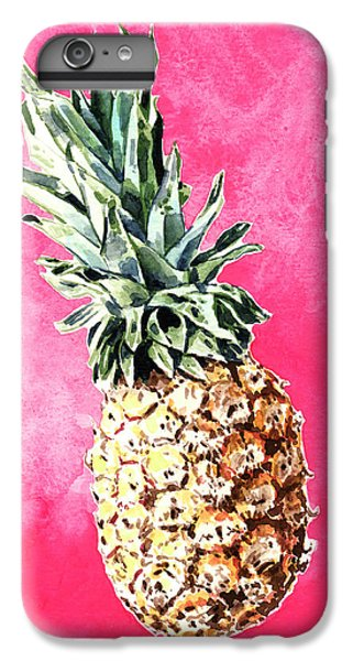 Pink Pineapple Bright Fruit Still Life Healthy Living Yoga Inspiration Tropical Island Kawaii Cute IPhone 6s Plus Case by Laura Row