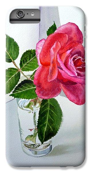 Rose iPhone 6s Plus Case - Pink Rose by Irina Sztukowski