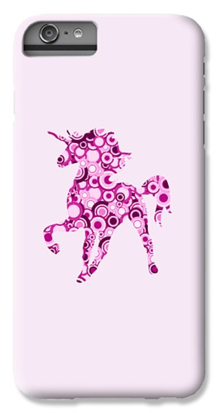 Pink Unicorn - Animal Art IPhone 6s Plus Case by Anastasiya Malakhova