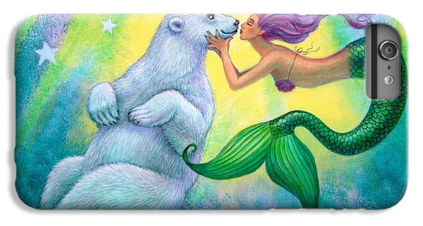 Extinct And Mythical iPhone 6s Plus Case - Polar Bear Kiss by Sue Halstenberg