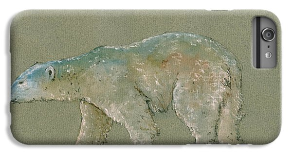 Polar Bear Original Watercolor Painting Art IPhone 6s Plus Case