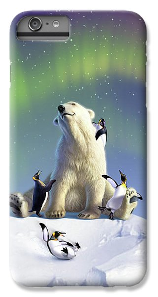Penguin iPhone 6s Plus Case - Polar Opposites by Jerry LoFaro