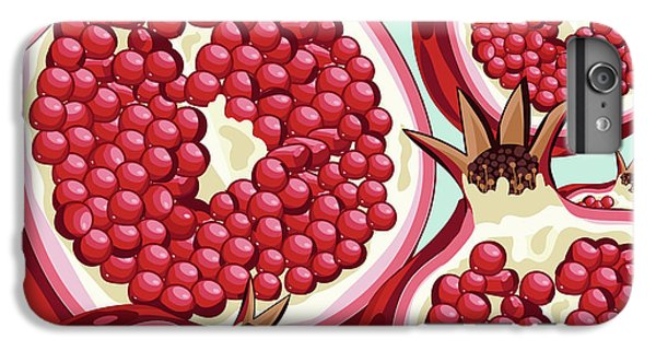 Grapefruit iPhone 6s Plus Case - Pomegranate   by Mark Ashkenazi