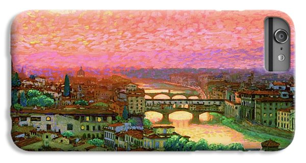 Town iPhone 6s Plus Case - Ponte Vecchio Sunset Florence by Jane Small