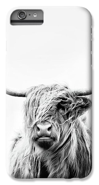 Cow iPhone 6s Plus Case - Portrait Of A Highland Cow - Vertical Orientation by Dorit Fuhg