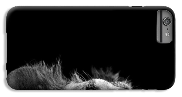 White iPhone 6s Plus Case - Portrait Of Lion In Black And White IIi by Lukas Holas