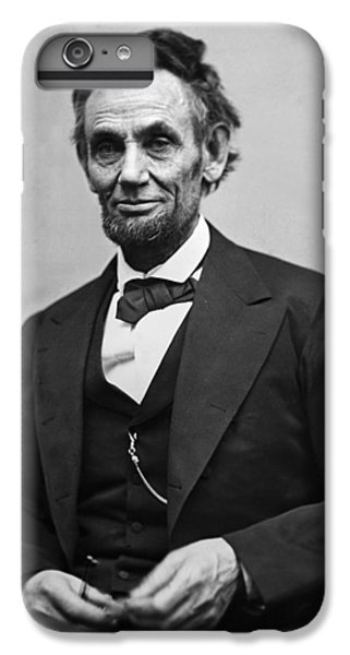 White iPhone 6s Plus Case - Portrait Of President Abraham Lincoln by International  Images