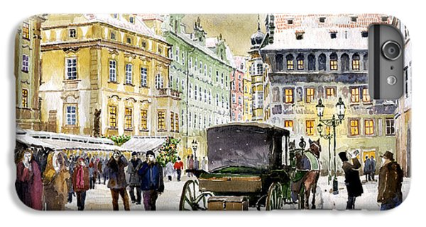 Town iPhone 6s Plus Case - Prague Old Town Square Winter by Yuriy Shevchuk