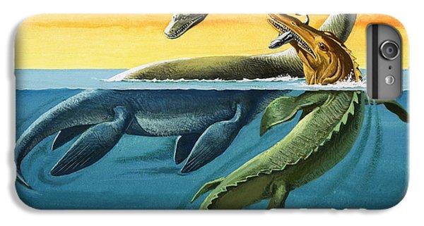 Prehistoric Creatures In The Ocean IPhone 6s Plus Case by English School