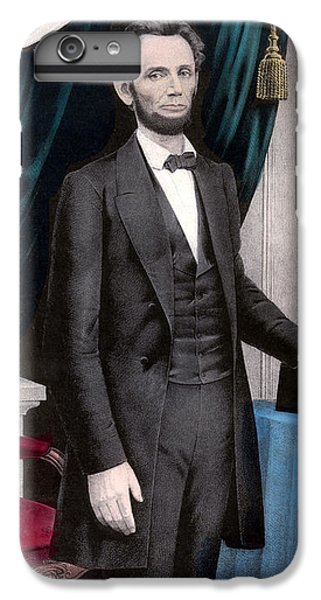 Abraham Lincoln iPhone 6s Plus Case - President Abraham Lincoln In Color by War Is Hell Store