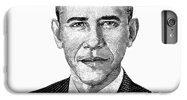 Barack Obama iPhone 6s Plus Case - President Barack Obama Graphic Black And White by War Is Hell Store
