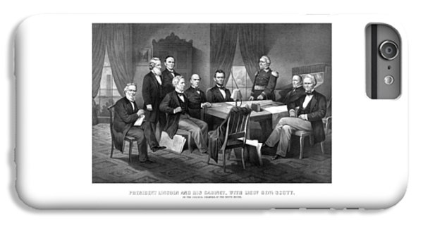 President Lincoln His Cabinet And General Scott IPhone 6s Plus Case by War Is Hell Store
