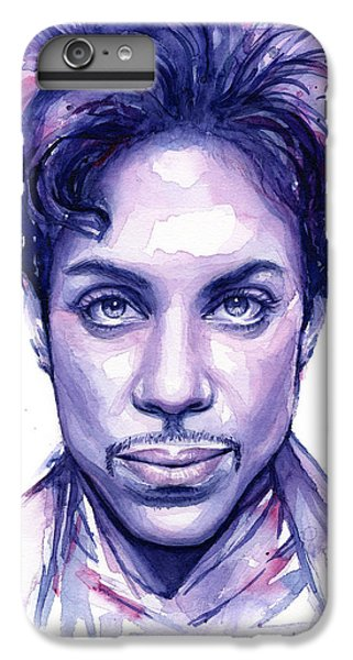 Musicians iPhone 6s Plus Case - Prince Purple Watercolor by Olga Shvartsur
