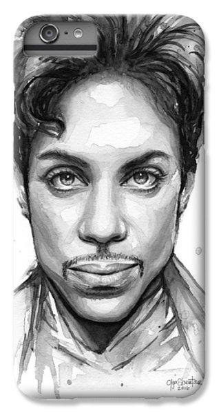 Dove iPhone 6s Plus Case - Prince Watercolor Portrait by Olga Shvartsur