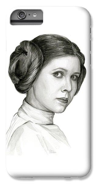 Star iPhone 6s Plus Case - Princess Leia Watercolor Portrait by Olga Shvartsur