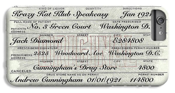 IPhone 6s Plus Case featuring the photograph Prohibition Prescription Certificate Krazy Kat Klub by David Patterson