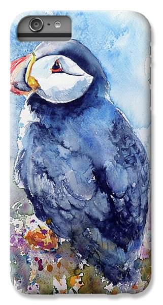 Puffin With Flowers IPhone 6s Plus Case by Kovacs Anna Brigitta