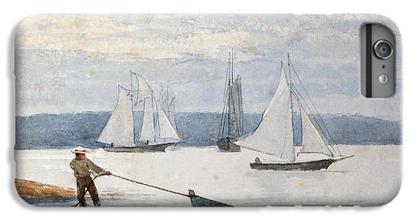 Boats iPhone 6s Plus Case - Pulling The Dory by Winslow Homer